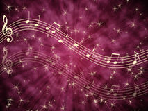 Musical background with notes Stock Photo