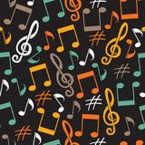 Musical background from notes Stock Photo