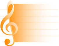 Musical Background/Orange/eps Stock Photography