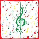 Musical background paper Stock Images