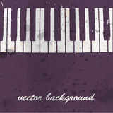 Musical background with piano keyboard Royalty Free Stock Photos