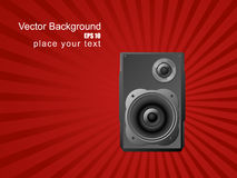 Musical background with speaker. Royalty Free Stock Image