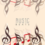Musical background with stylish text. Royalty Free Stock Image