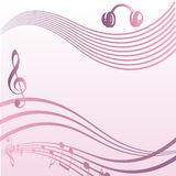 Musical background. Tone paper for musical event Stock Image