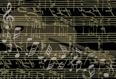 Musical background vector stock illustration
