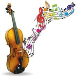 Musical background with violin Royalty Free Stock Photo