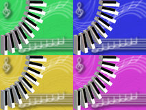 Musical backgrounds Royalty Free Stock Photo