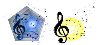 Musical backgrounds Stock Photo
