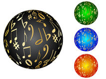 Musical balls. Different colors vector illustration Royalty Free Stock Photo