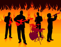 Musical Band in Hell Royalty Free Stock Photos
