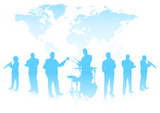 Free Musical Band On World Background Stock Photography - 36588402