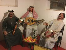 A musical band of traditional Bedouins from Arab world. Royalty Free Stock Photography