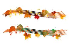 Musical banner Stock Image