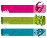 Musical banners Royalty Free Stock Photos