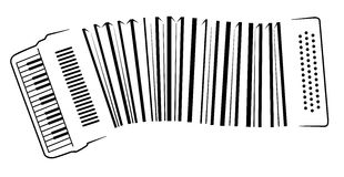Musical barcode. Executed as an accordion Stock Photo