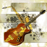 Musical blurred background  tinted glass frames Stock Image