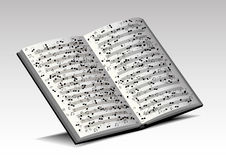 Musical book Stock Image