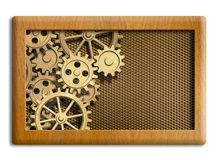 Musical box gears background Royalty Free Stock Photo