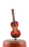 Musical box violin, close up isolated Royalty Free Stock Photos