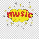 Musical bright background. A vector Illustration Stock Photo