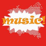 Musical bright background. A vector Illustration Stock Photos