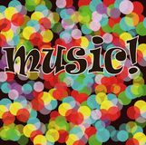 Musical bright background. A vector Illustration Royalty Free Stock Image