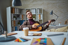 Musical businessman Stock Images