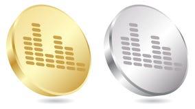 Musical button Stock Photos