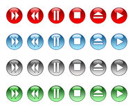 Musical buttons Royalty Free Stock Photos