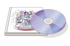 Musical cd disk Stock Image