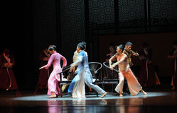 Musical chairs-The second act of dance drama-Shawan events of the past. Guangdong Shawan Town is the hometown of ballet music, the past focuses on the historical Stock Photos