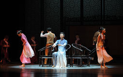 Musical chairs-The second act of dance drama-Shawan events of the past. Guangdong Shawan Town is the hometown of ballet music, the past focuses on the historical Royalty Free Stock Image