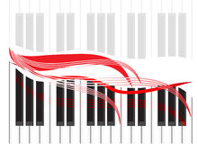 The musical check in the form of piano Stock Photography