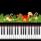 Musical christmas template Stock Images