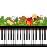 Musical christmas template Royalty Free Stock Images