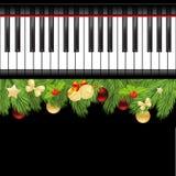 Musical christmas template Stock Photography