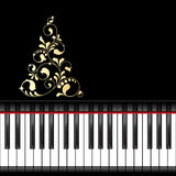 Musical christmas template Royalty Free Stock Photo
