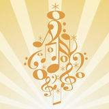 Musical christmas tree Stock Photography