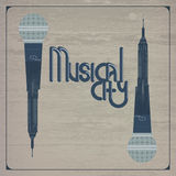 Musical city Stock Photography