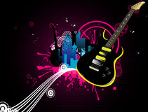 Musical city vector Stock Photo