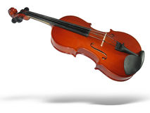 Musical classic violin with shadow isolated Royalty Free Stock Photos