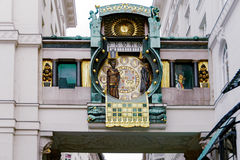 Musical clock Anker (Ankeruhr). Vienna, Austria Royalty Free Stock Photo