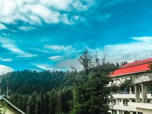 Musical Clouds at Nathia Gali. Nathia Gali is a mountain resort town or hill station in Abbottabad District of Khyber Pakhtunkhwa, Pakistan. It is located at the stock image