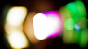 Musical Color Equipment Changing Colors On Blurred stock video footage