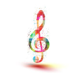 Musical color notes background, easy all editable Stock Images