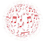 musical colorful notes background Stock Image