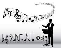 Musical composition stock illustration