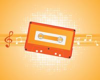 Musical composition audiocassette. Royalty Free Stock Photos