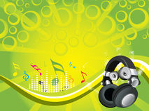 Musical composition disco background Royalty Free Stock Images