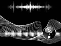 Musical composition disco background Stock Image